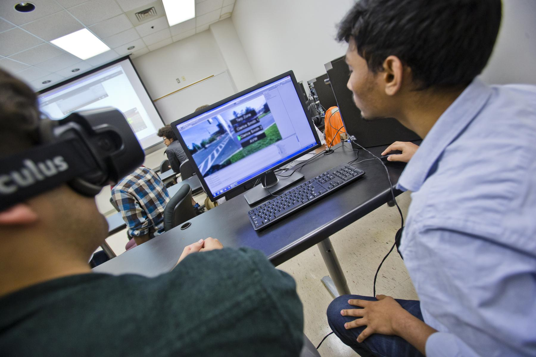 Student working with AR on the computer